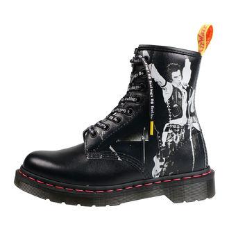 topánky DR.MARTENS - 8 dierkové - Sex Pistols - backhand straw obilie, Dr. Martens, Sex Pistols