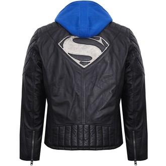 bunda pánska kožená SUPERMAN - BLACK, NNM