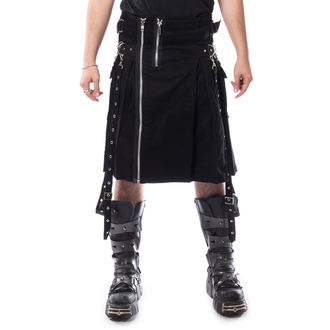 kilt pánsky CHEMICAL BLACK - CARL - BLACK, CHEMICAL BLACK