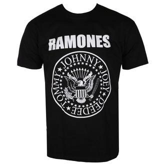 tričko pánske RAMONES - CREST - BLACK - LIVE NATION, LIVE NATION, Ramones