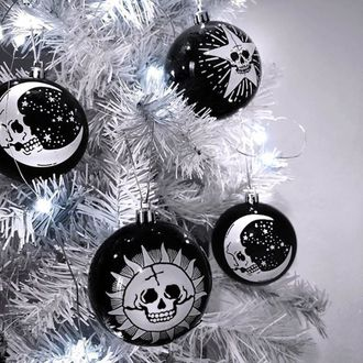 vianočné výzdoba (banka) KILLSTAR - Hexmas - Black, KILLSTAR