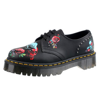 topánky DR.MARTENS - 3 dierkové - PASCAL BEX ROSE BLACK MULTI, Dr. Martens