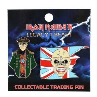 pripináčik Iron Maiden - Legacy of the Beast - Trooper Eddie & General