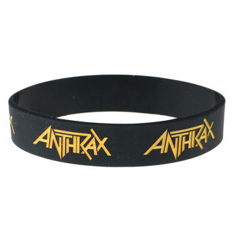 náramok gumový Anthrax - ROCK OFF, ROCK OFF, Anthrax