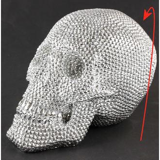 dekorácia Skull - Silver - 78/5744 - POŠKODENÁ