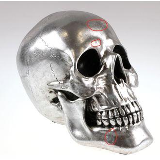 dekorácia Skull - Silver - 78/5742 - POŠKODENÁ