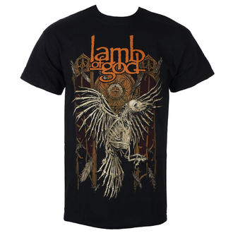 tričko pánske Lamb Of God - Crow - Black - ROCK OFF, ROCK OFF, Lamb of God