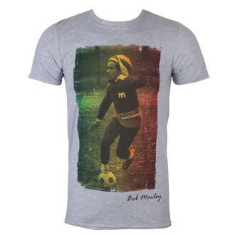 tričko pánske Bob Marley - Rasta Football - Grey - ROCK OFF, ROCK OFF, Bob Marley