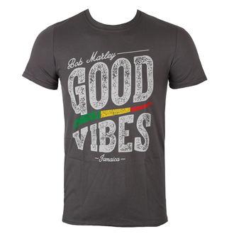 tričko pánske Bob Marley - Good Vibes - Charcoal - ROCK OFF, ROCK OFF, Bob Marley