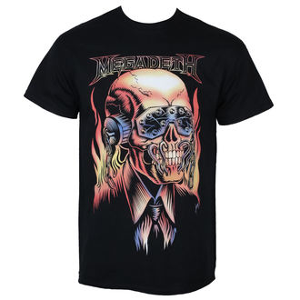 tričko pánske MEGADETH - FLAMING VIC - PLASTIC HEAD