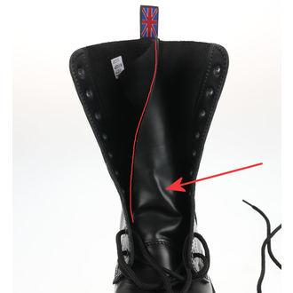 topánky NEVERMIND - 10 dierkové - Black Polido - POŠKODENÉ, NEVERMIND