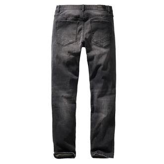 nohavice pánske BRANDIT - Rover - Black denim - slim fit, BRANDIT