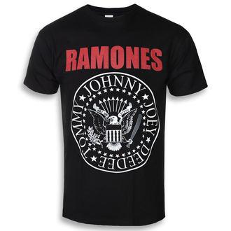 tričko pánske RAMONES - RED TEXT SEAL LOGO - PLASTIC HEAD, PLASTIC HEAD, Ramones