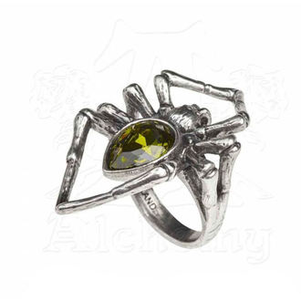prsteň ALCHEMY GOTHIC - Emerald Venom