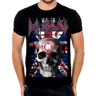 tričko pánske Def Leppard - Union Jack Skull - Black - HYBRIS, HYBRIS, Def Leppard