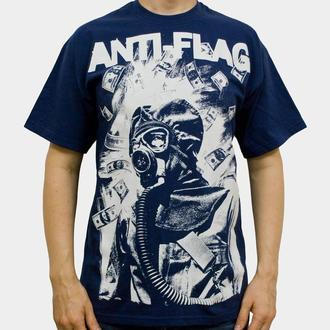 tričko pánske Anti Flag (Gasmask) - KINGS ROAD - Blue Navy, KINGS ROAD, Anti-Flag