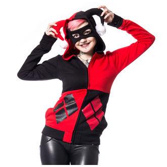 mikina dámska Batman - HARLEY - BLACK/RED