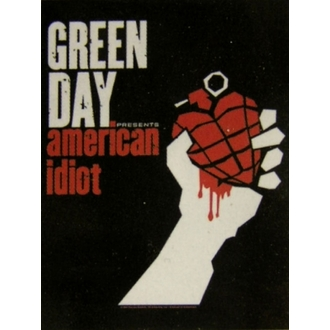 vlajka Green Day - American Idiot, HEART ROCK, Green Day