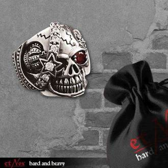 prsteň ETNOX - Machine Skull 2 - SR1147