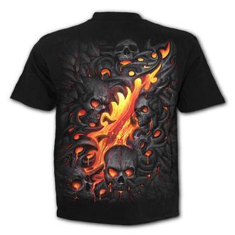 tričko pánske SPIRAL - SKULL LAVA, SPIRAL