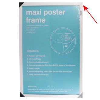 rám na plagát (61x91,5 cm) - White - GB Posters - FMMXA1WH - POŠKODENÝ, GB posters