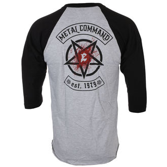 tričko pánske s 3/4 rukávom EXODUS - METAL COMMAND - GREY / BLK - JSR, Just Say Rock, Exodus