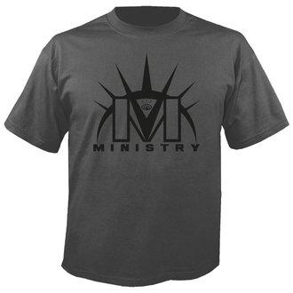 tričko pánske MINISTRY - Logo GREY - NUCLEAR BLAST, NUCLEAR BLAST, Ministry