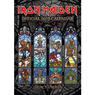 kalendár na rok 2019 IRON MAIDEN, NNM, Iron Maiden