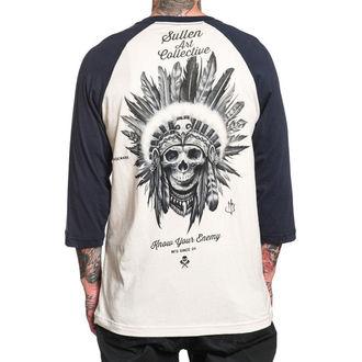 tričko pánske s 3/4 rukávom SULLEN - KNOW YOUR ENEMY - WHITE / NAVY, SULLEN