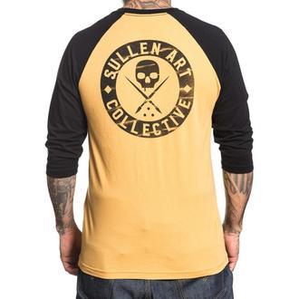 tričko pánske s 3/4 rukávom SULLEN - MUBK BOH BUILT - MUSTARD / BLACK, SULLEN