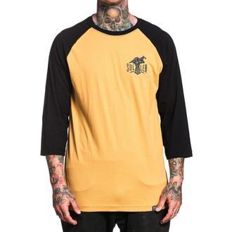 tričko pánske s 3/4 rukávom SULLEN - IRON HAND - MUSTARD / BLACK, SULLEN