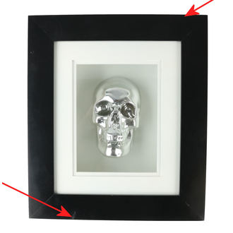 obraz Silver Skull In Frame - B0330B4 - POŠKODENÝ, NNM