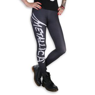 nohavice dámske (legíny) - Metallica - Logo - Black/White, PAMELA MANN