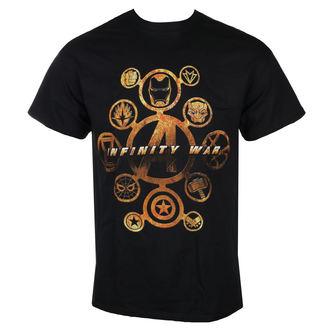 tričko pánske AVENGERS - INFINITY WAR - CHARACTER ICONS - Black - LIVE NATION, LIVE NATION