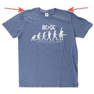 tričko pánske AC/DC - Evolution Of Rock - Heather Blue - LIVE NATION - POŠKODENÉ, LIVE NATION, AC-DC