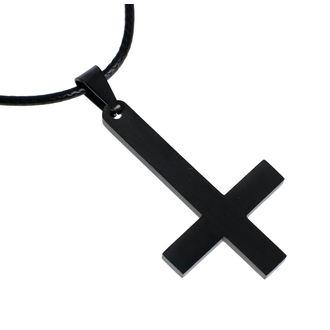 obojok Luciferothica - Black Inverted Cross, LUCIFEROTHICA