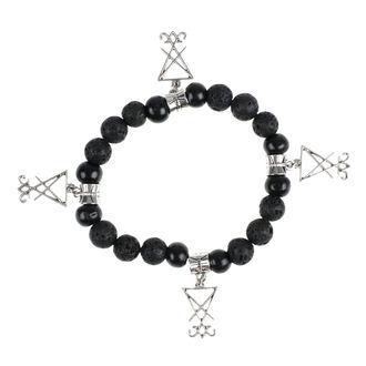 náramok Luciferothica - black & silver, LUCIFEROTHICA