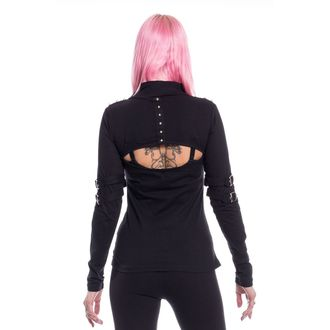 tričko dámske s dlhým rukávom Poizen Industries - MAZIA - BLACK, POIZEN INDUSTRIES
