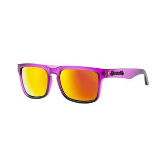 okuliare slnečné MEATFLY - MEMPHIS - F- 4/17/55 - Purple Matt