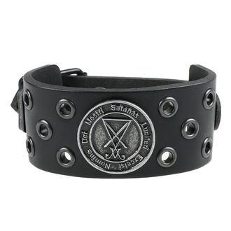 náramok Luciferi - ring black, Leather & Steel Fashion
