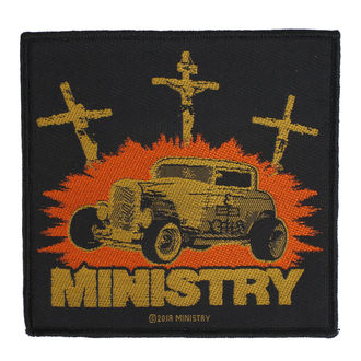 nášivka Ministry - Jesus Built My Hotrod - RAZAMATAZ, RAZAMATAZ, Ministry