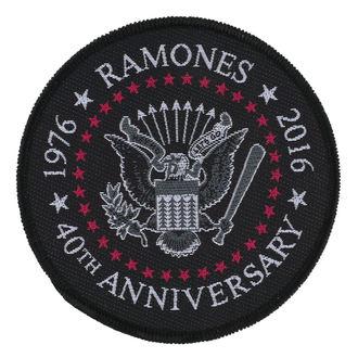nášivka RAMONES - 40TH ANNIVERSARY - RAZAMATAZ, RAZAMATAZ, Ramones