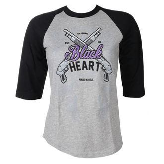tričko dámske BLACK HEART - BH SHOT GUN - GREY, BLACK HEART