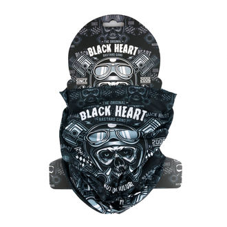 nákrčník BLACK HEART - PISTON SKULL - BLACK, BLACK HEART
