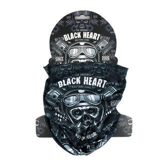 nákrčník BLACK HEART - PISTON SKULL - BLACK, BLACK HEART