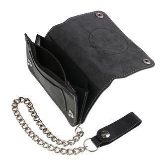 peňaženka BLACK HEART - BASTARD SKULL - BLACK, BLACK HEART