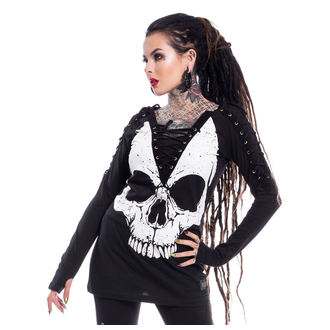 tričko dámske s dlhým rukávom VIXXSIN - NIGHT STALKER - BLACK - POI499