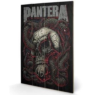 drevený obraz Pantera - (&&string0&&) - PYRAMID POSTERS, PYRAMID POSTERS, Pantera