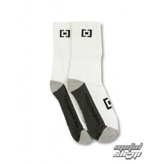 ponožky HORSEFEATHERS - AXIOM - WHITE