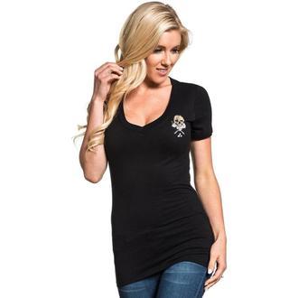 tričko dámske SULLEN - PAVIA BADGE - BLACK, SULLEN